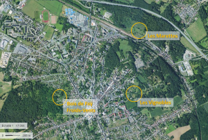 Localisation des jardins dans Clermont